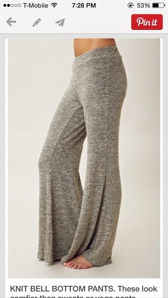 pants leggings grey yoga pants flowy baggy pants