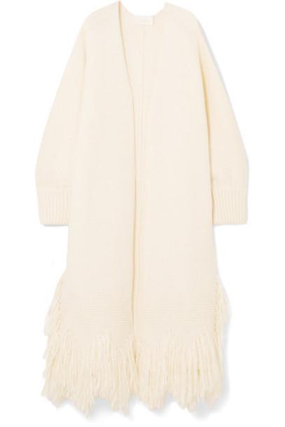 Chloe cardigan cardigan wool cream sweater
