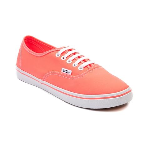 Vans Authentic Lo Pro Skate Shoe, Neon Coral | Journeys Shoes