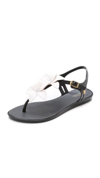 Melissa Solar Garden Ii Sandals - Black/White