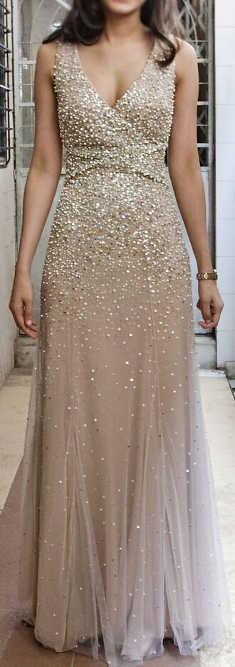 dress sparkledust glitter gold tulle skirt formal prom homecoming wedding bridesmaid long detailed pearl sequins prom dress long prom dress sequin prom dress backless prom dress formal dress formal event outfit winter formal dress
