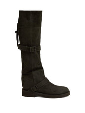 dark,leather boots,leather,grey,shoes