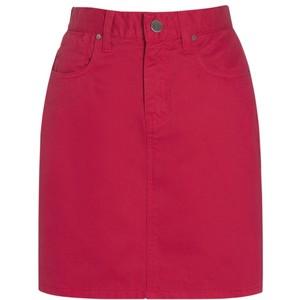 by Jaeger Becca Mini Denim Skirt, Hot Pink