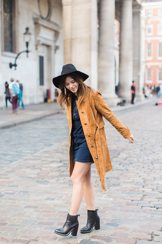 wish wish wish blogger hat coat dress shoes