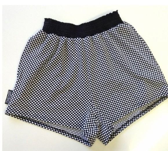 polka shorts polka dots black white summer pattern dots shoes black and white patterned polka dot dotted b&w monochrome fashion