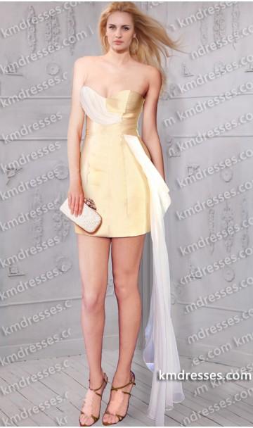 romantic strapless sweetheart short satin dress Inspired by Selena Gomez Selena Gomez at Teen Choice Awards