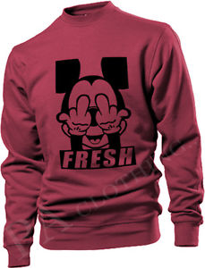 FRESH MICKEY MOUSE HANDS DOPE STREET SWEATSHIRT SWEATER HIPSTER SWAG MENS | eBay