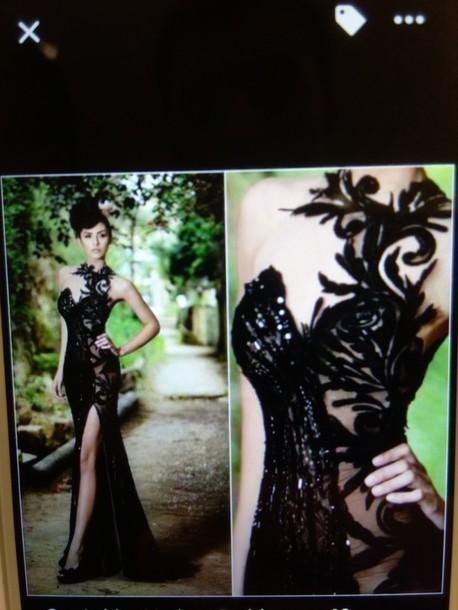 dress black dress evening dress gown