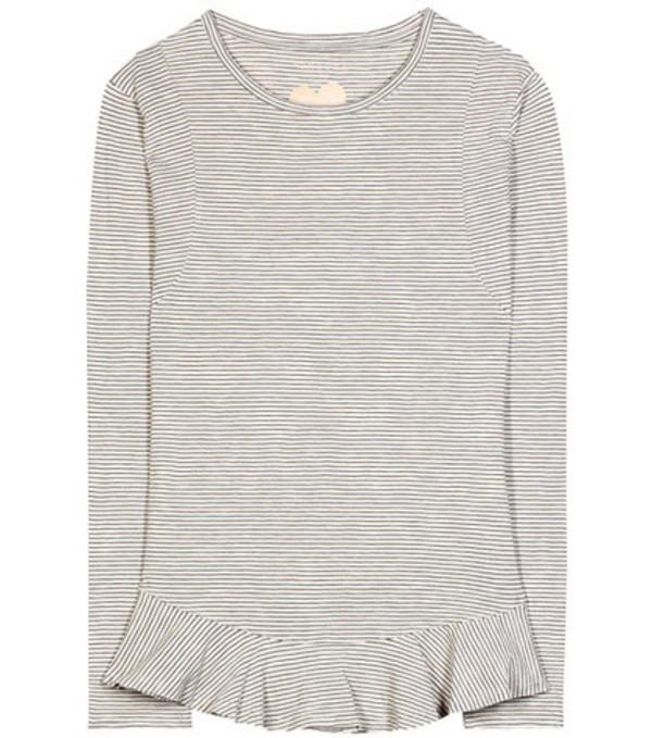 81hours Nella striped cotton top in neutrals