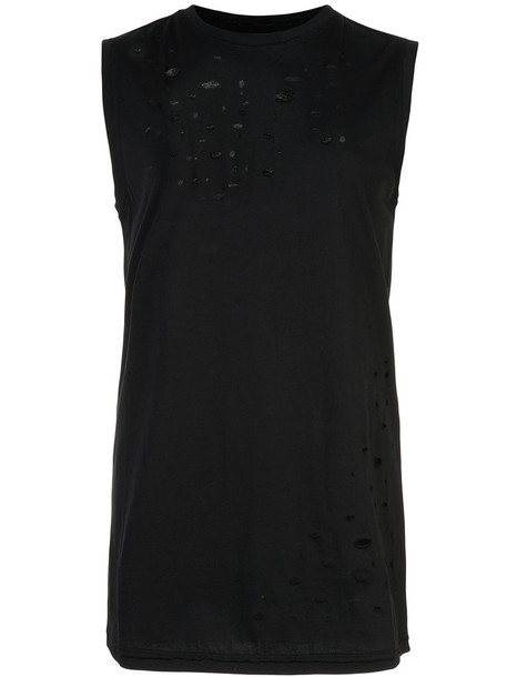 Thomas Wylde top women cotton black