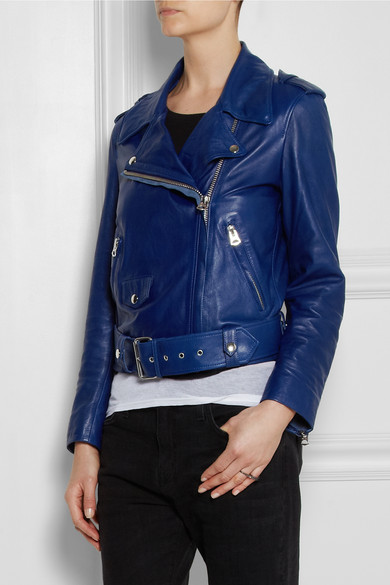 mape leather biker jacket