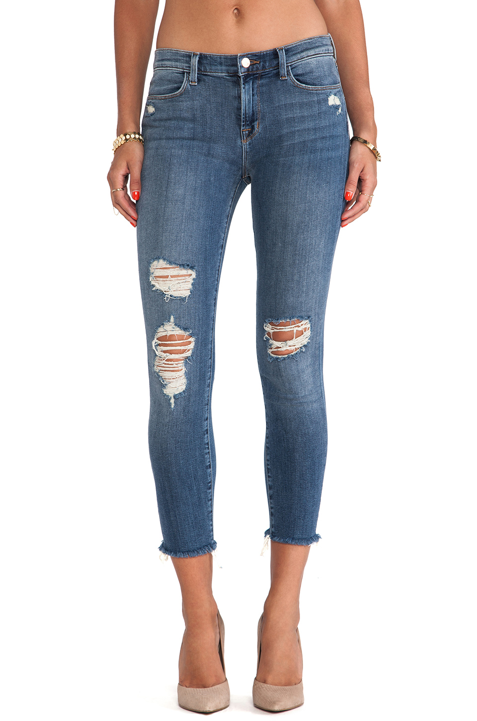 J Brand Cropped Mid Rise Skinny in Fury | REVOLVE