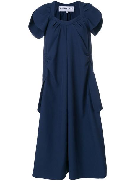 dress oversized women blue