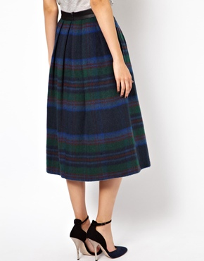 ASOS | ASOS Midi Skirt in Statement Check at ASOS