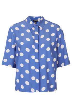 Large Spot Shirt - Shirts - Tops  - Clothing - Topshop