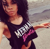 top,black,white,pink,black top,crop tops,crop,black crop top,style,fashion,shiny,curly hair,hair/makeup inspo,hairstyles,nail polish,make-up,jewels
