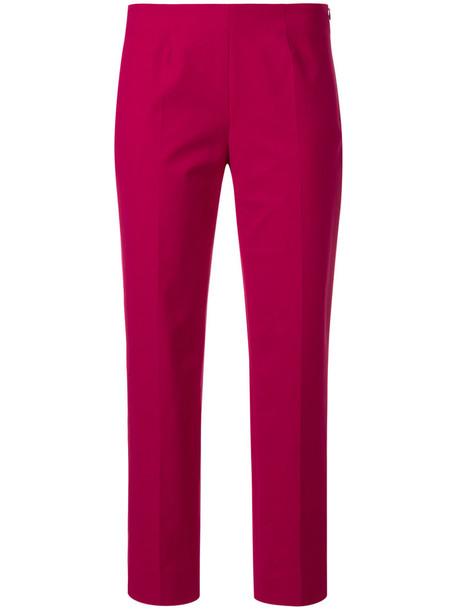 Piazza Sempione women spandex cotton red pants