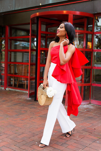 jadore-fashion blogger top pants bag jewels shoes