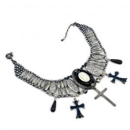 Maxi Colar com Crucifixos - :: Colares
