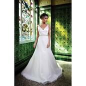 dress,halston heritage,wedding dress,ivory dress