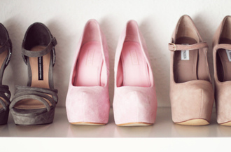 shoes light pink faux suede high heels shirt pastel
