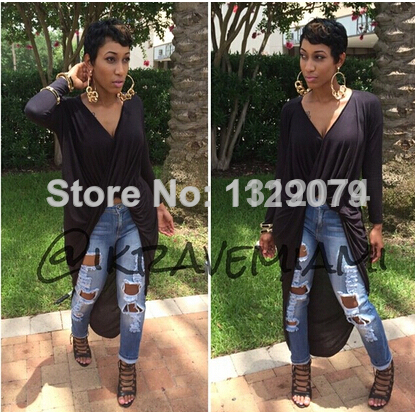 Aliexpress.com : buy 2014 new summer dark grey ladies' slim v neck long sleeve irregular wrinkle cotton dress om149 from reliable dress loafer suppliers on trending collection