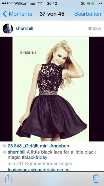 dress sherri hill prom prom dress black dress
