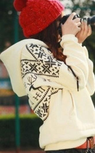 sweater cardigan black and white aztec