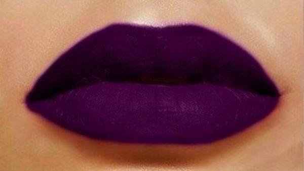 pants purple lipstick lips make-up
