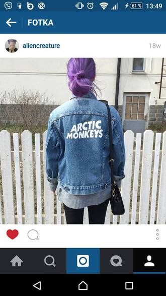 jacket grunge jeans arctic monkeys denim jacket