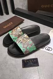b519ca17a4a Gucci GG Supreme Tiger Slide Sandal - Shop for Gucci GG Supreme ...
