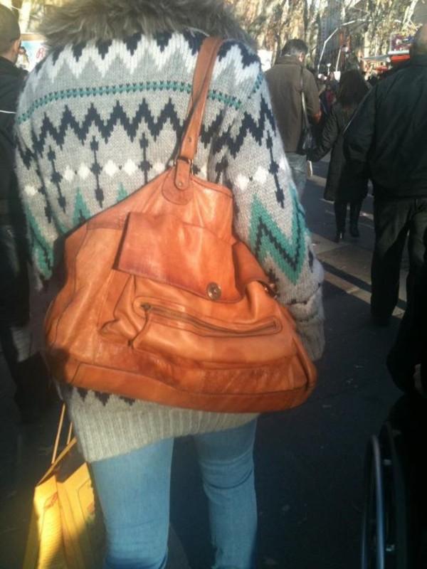 brown bag leather bag bag