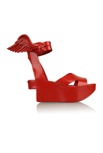 shoes vivienne westwood melissa wings red shoes