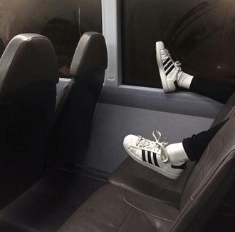 shoes adidas adidas shoes causal shoes white black adidas superstars adidas originals