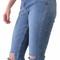 """talk is cheap"" knee cutout cotton denim jeans – glamzelle"