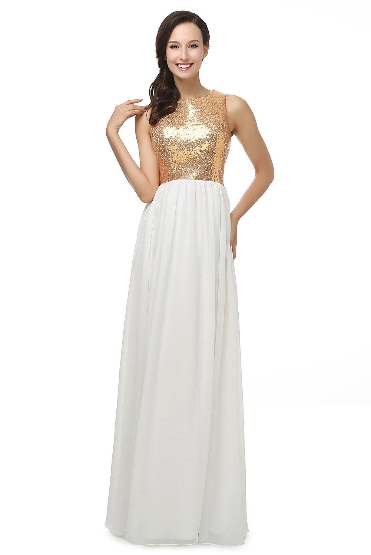 L'ivresse Women's Round Neck Bridesmaid Long Evening Gown | Amazon.com