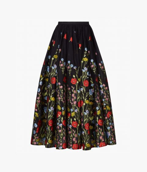 Lindie Skirt Poppy Cotton Fil Coupe