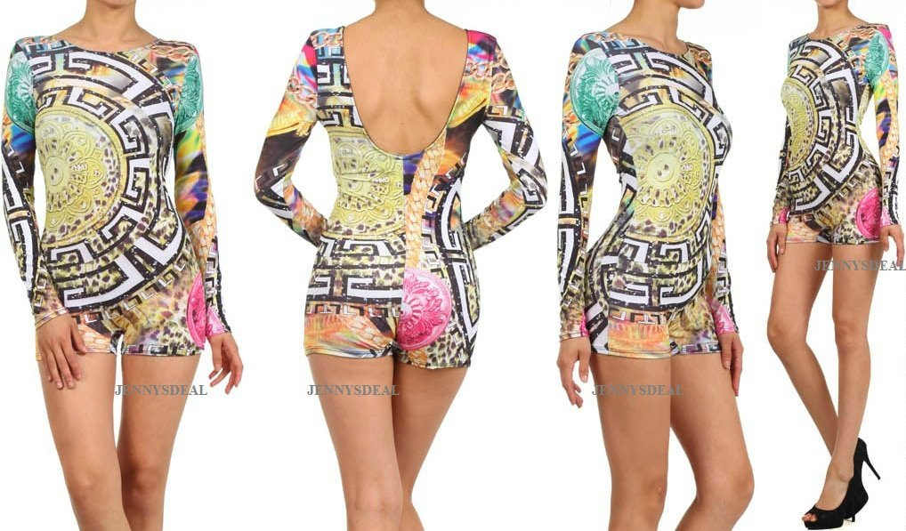 Made in us sexy on the run globe hot shorts romper bodysuit s m l beyonce