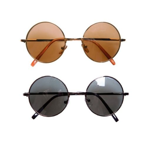New Round Sunglasses Retro Vintage Frame Style Shades Circle Lens Fashion Hippie | eBay