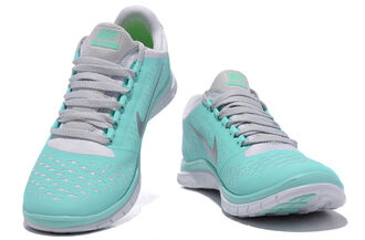 tiffany shoes nike shoes tiffanyblue cute blue nike freerun fitness sportswear