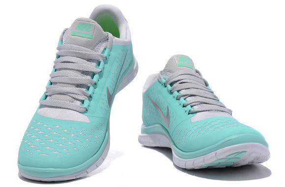 shoes cute tiffany tiffanyblue blue nike freerun fitness sporty