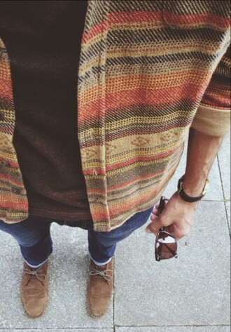 jacket vintage hipster chill aztec menswear indie