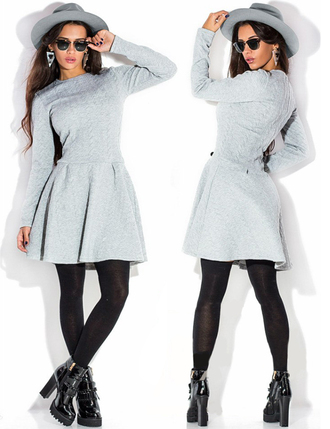 dress zefinka knitted dress grey fall outfits fall dress knitwear