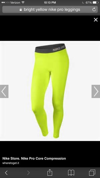 leggings nike yellow compression  pantss