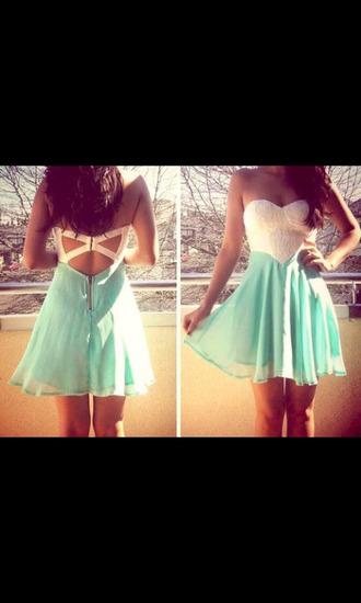 dress light blue white dress pretty love mini mini dress cute