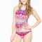 Geo print tassel halter bikini suit