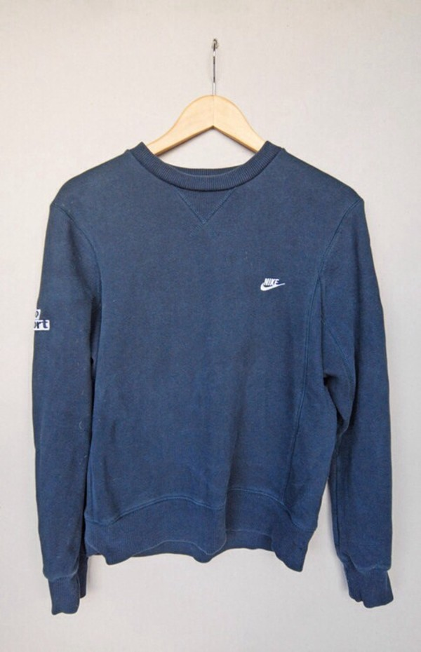 made in usa black nike sweatshirt m l mens crewneck vintage 80s 90s minimal hipster. Black Bedroom Furniture Sets. Home Design Ideas