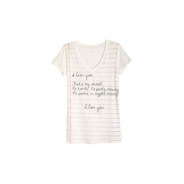 Notebook Secret Tee - Polyvore