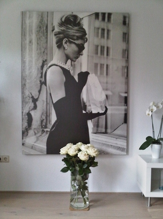 jewels audrey hepburn black and white poster