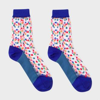 socks navy polka dots sheer cute socks paul smith colorful